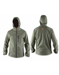 Hooded Green Soft Shell - L