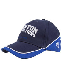 PRESTON WHITE CAP - WITH BLUE TRIM BO