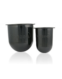 Frenzee Soft Pots Pack of 2 + Lids (Clear/Black)