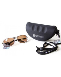 PRESTON POLARISED SPORT SUNGLASSES - BROWN LENS (1)