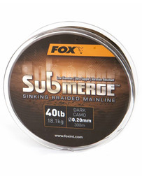 Submerge Dark Camo Sinking Braid x 600m 0.20mm 40lb/18.1kg