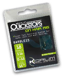 "4"" KORUM HAIR RIGS WITH QUICKSTOPS SIZE 16 (10)"