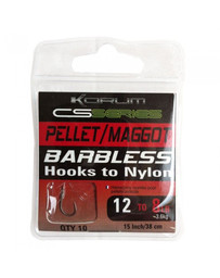 KORUM HOOKS TO NYLON POWER BAND - SHORT SIZE 14 (10)