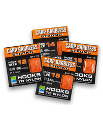 BARBLESS CARP STRONG HOOKS TO NYLON - SIZE 18 (10)