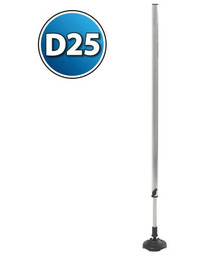 TELESCOPIC LEG D25 - 730/1030 MM