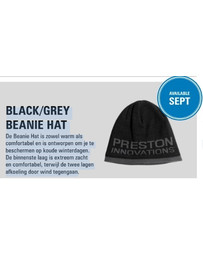 Preston Black Grey Beanie Hat/Muts