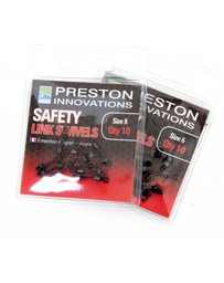 PRESTON SAFETY LINK SWIVELS - SIZE 8 (10)